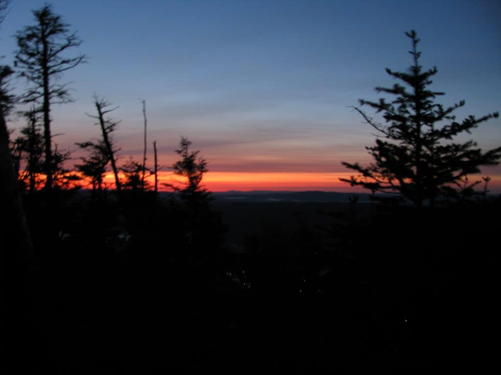 Sunrise from Lookout Rock
